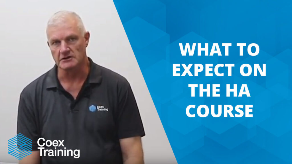 What to expect in the Coex HA course